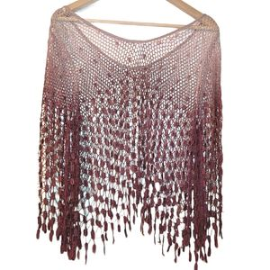 Free People Crochet OmbreSee Through Pull Over Top